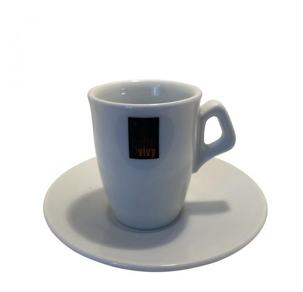 Espressotasse Caffè Vivy mit Untertasse